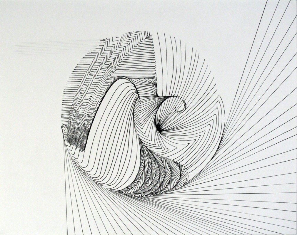 The Line Artwork : Using contour lines to create moving line drawings